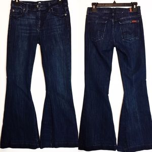 7 For All Mankind Charlize Flare jeans Size 26